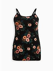 Foxy Tunic Cami - Floral Black, OTHER PRINTS, hi-res