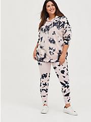 Plus Size Breast Cancer Awareness Hoodie - Cozy Fleece Lotus Tie Dye, OTHER PRINTS, alternate
