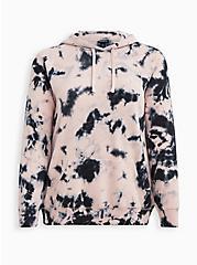 Plus Size Breast Cancer Awareness Hoodie - Cozy Fleece Lotus Tie Dye, OTHER PRINTS, hi-res