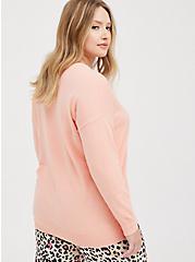 Pullover Sweater - Drop Shoulder Peach , PEACH, alternate