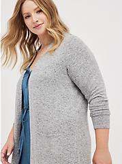 Duster - Super Soft Plush Grey, GREY, hi-res