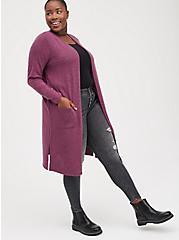 Duster - Super Soft Plush Dark Purple, PURPLE, alternate