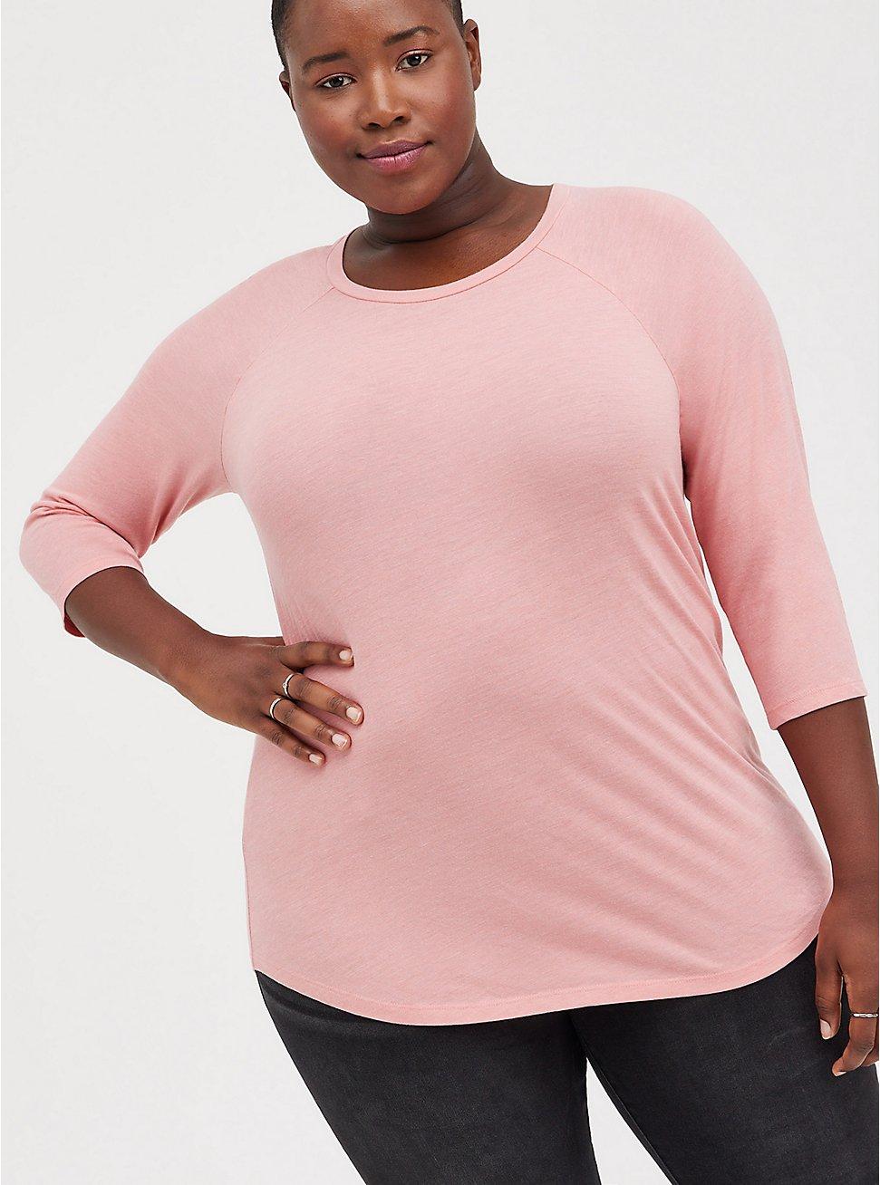 Raglan Tee - Triblend Jersey Pink, PINK, hi-res