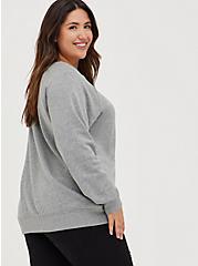 Raglan Sweatshirt - Cozy Fleece Heather Grey, HEATHER GREY, alternate