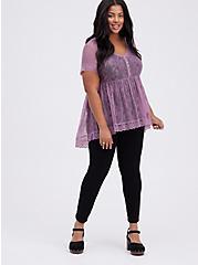 Babydoll Top - Lace Purple, PURPLE, alternate