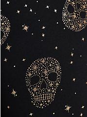 Crop Active Legging - Star & Skull Black, SKULL - BLACK, alternate