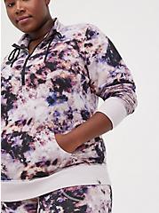 Active Zip Sweatshirt - French Terry Purple Tie Dye, TIE DYE, alternate