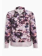 Active Zip Sweatshirt - French Terry Purple Tie Dye, TIE DYE, hi-res