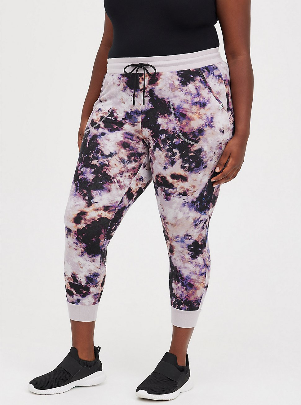 Classic Fit Active Jogger - French Terry Purple Tie Dye, TIE DYE, hi-res