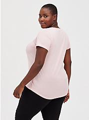 Girlfriend Tee – Signature Jersey Pink, PINK, alternate