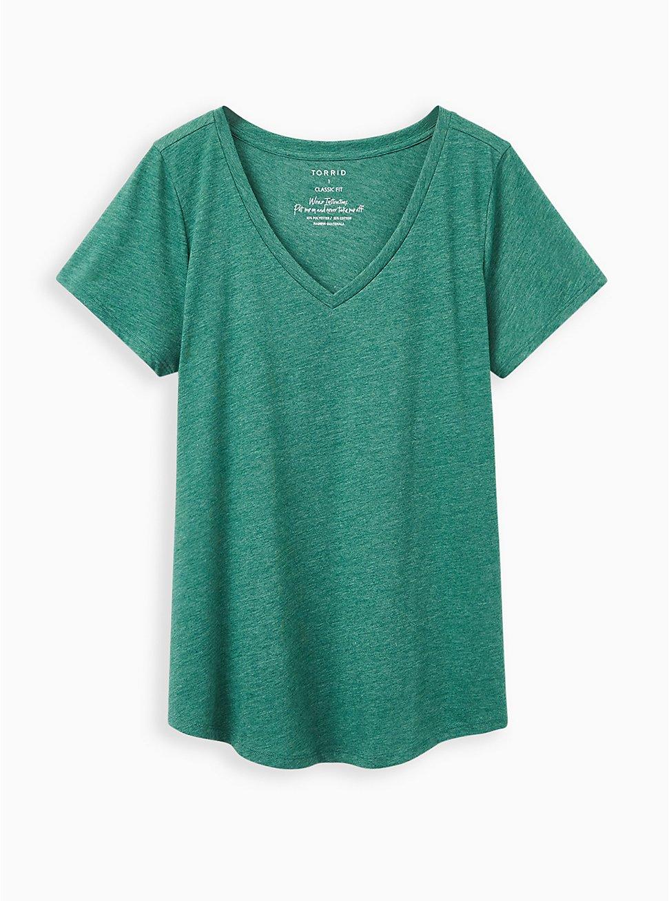 Girlfriend Tee - Signature Jersey Green, GREEN, hi-res