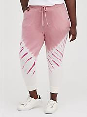 Plus Size Breast Cancer Awareness Classic Fit Active Jogger - Tie-Dye Pink , TIE DYE, hi-res