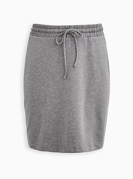 A-Line Mini Skirt - Fleece Grey, HEATHER GREY, hi-res