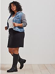 A-Line Mini Skirt - Fleece Black, DEEP BLACK, hi-res