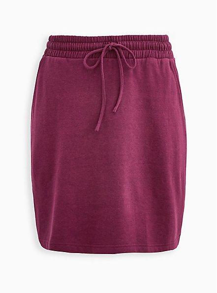 A-Line Mini Skirt - Fleece Purple , VIOLET, hi-res