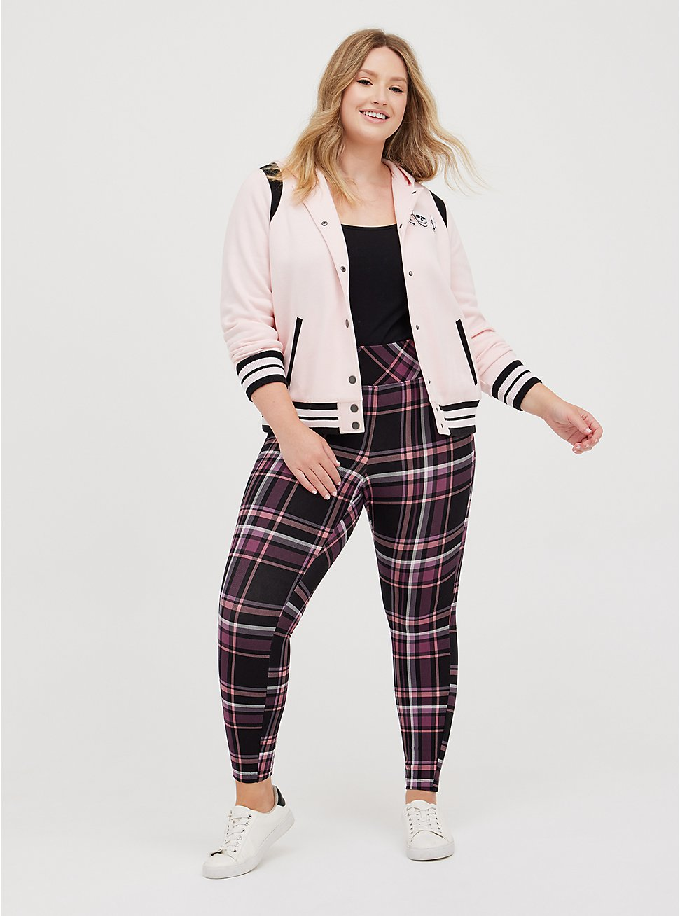 Plus Size Pull-On Pixie Pant - Luxe Ponte Burgundy Plaid with Slim Fix Technology, OTHER PRINTS, hi-res