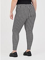 Plus Size Slim Fix Pull-On Pixie Pant - Luxe Ponte Houndstooth Grey, OTHER PRINTS, alternate