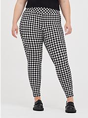 Plus Size Slim Fix Pull-On Pixie Pant - Luxe Ponte Houndstooth Grey, OTHER PRINTS, hi-res