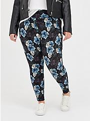 Pixie Pant - Luxe Ponte Floral Skull with Slim Fit Technology, MULTI FORAL, alternate