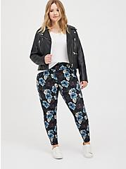 Pixie Pant - Luxe Ponte Floral Skull with Slim Fit Technology, MULTI FORAL, hi-res