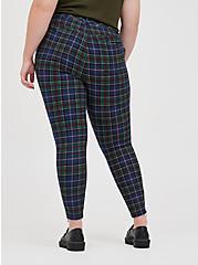 Zip Skinny Pant - Luxe Ponte Tartan Plaid, OTHER PRINTS, alternate