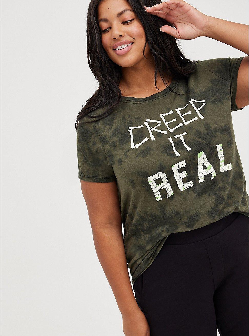Everyday Tee - Signature Jersey Creep It Real Tie-Dye Green, DEEP DEPTHS, hi-res