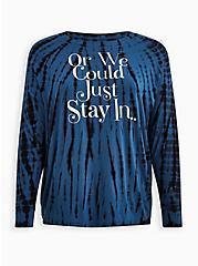Dolman Tee - Super Soft Stay In Tie-Dye Blue, MIDNIGHT, hi-res