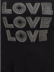 Plus Size Sleep Tank - Super Soft Rib Love Black, DEEP BLACK, alternate