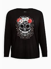 Dolman Tee - Super Soft Skull Black, DEEP BLACK, hi-res