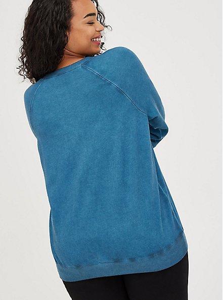 Sweatshirt - Fleece Sorry Coffee Luna Wash Blue , MIDNIGHT, alternate