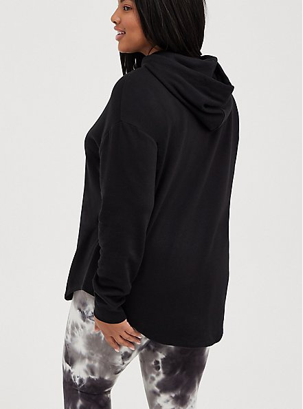 Relaxed Drop Shoulder Hoodie - Everyday Fleece Little Ray Black, DEEP BLACK, alternate