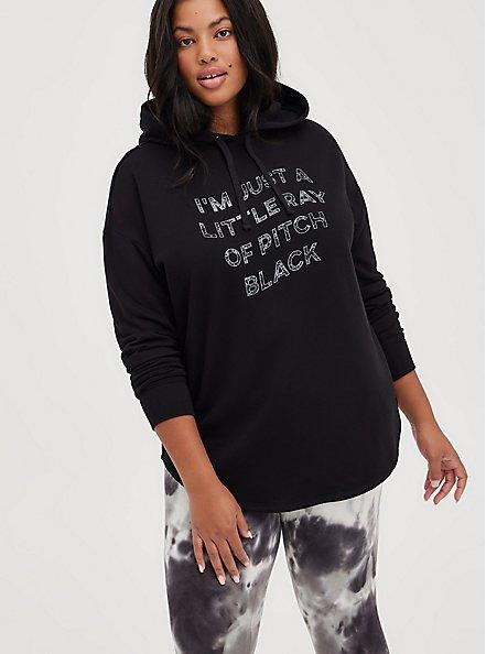 Relaxed Drop Shoulder Hoodie - Everyday Fleece Little Ray Black, DEEP BLACK, hi-res