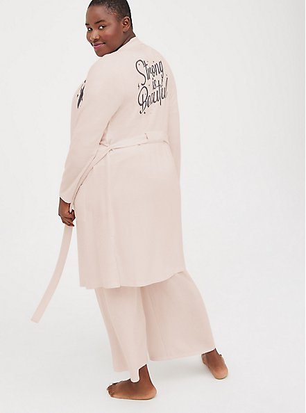 Breast Cancer Awareness Sleep Robe - Super Soft Plush Strong Pink, PINK, alternate