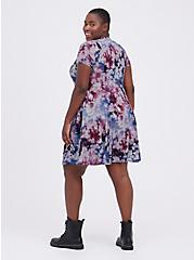 Henley Fit & Flare Dress - Super Soft Tie-Dye Multi , TIE DYE, alternate