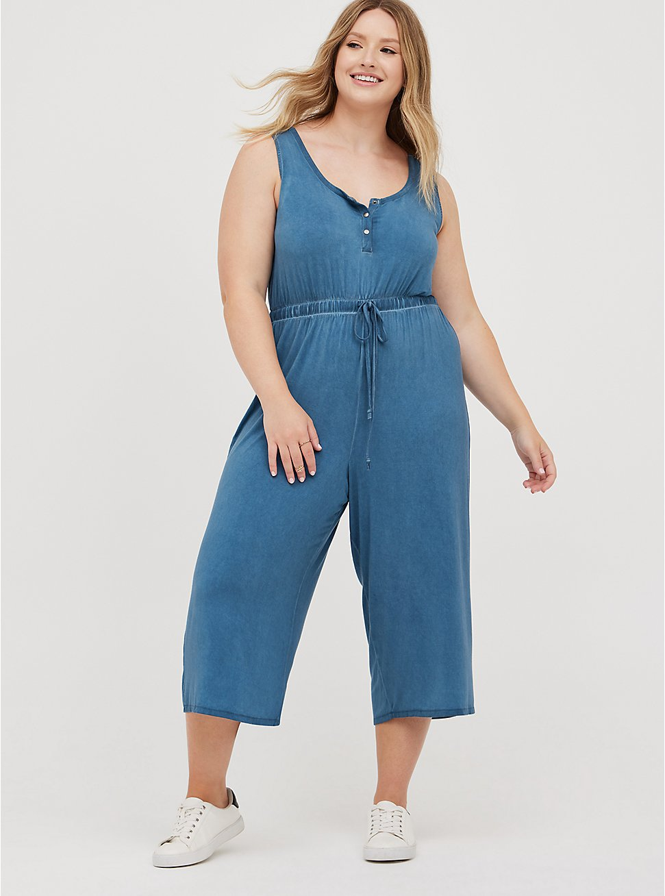 Jumpsuit - Super Soft Mineral Wash Blue, TIE DYE-BLUE, hi-res
