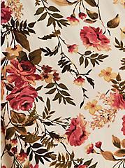 Skater Midi Dress - Challis Peasant Floral Cream, FLORAL - IVORY, alternate