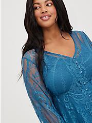 Skater Dress - Lace Blue, MIDNIGHT, alternate