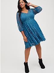 Skater Dress - Lace Blue, MIDNIGHT, hi-res