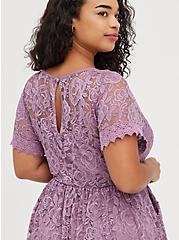 Skater Dress - Lace Purple, VIOLET, alternate