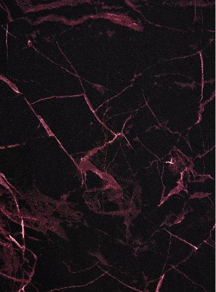 Henley Skater Dress - Super Soft Marble Black, MARBLE - BLACK, alternate