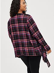 Drape Jacket - Flannel Plaid Red, MULTI, alternate