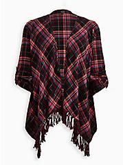 Drape Jacket - Flannel Plaid Red, MULTI, hi-res