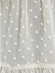 Tiered Ruffle Kimono - Clip Dot Cream, BIRCH, alternate