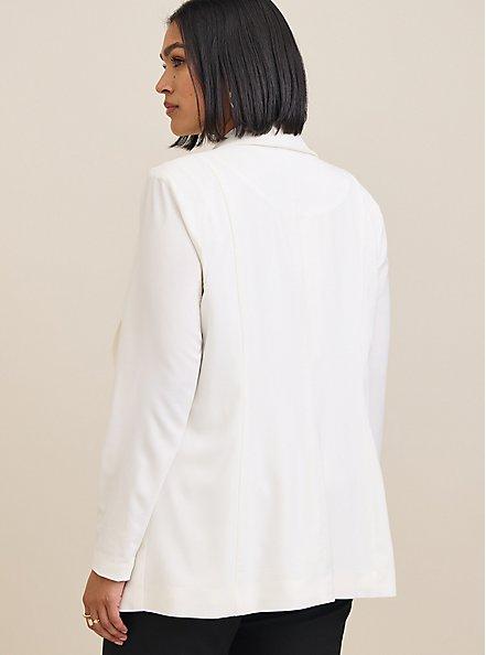 Longline Blazer - Crepe Black, DEEP BLACK, alternate