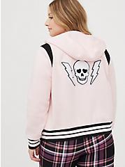 Varsity Bomber - Fleece Skull Pink, PINK SKULL, alternate