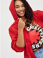 Plus Size Longline Rain Jacket - Red, RED, alternate