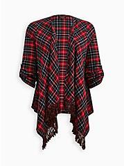 Drape Jacket - Plaid Flannel Red , MULTI, hi-res