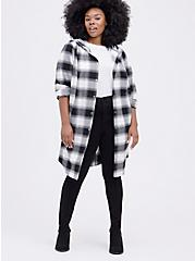 Anorak - Brushed Flannel Plaid Black & White , MULTI, alternate