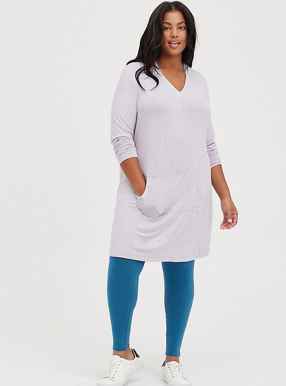 Lounge Dress - Super Soft Jersey Grey, GREY, hi-res