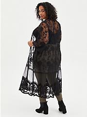 Lace Kimono - Mesh Black, DEEP BLACK, alternate